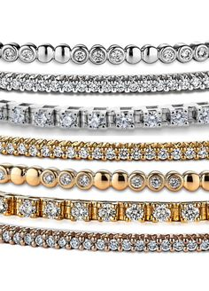 Discover unique bracelets at Ritani. Shop charm bracelets, tennis bracelets, & more. We only use the highest quality precious metals and gems. Women's Jewelry, Bridal Jewelry, Jewlery, Fine Jewelry, Unique Bracelets, Diamond Bracelets, Bangles, Dimonds, Precious Metals