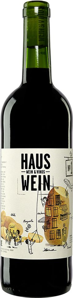 "#Wine-#Label ""HAUSWEIN"" from WEIN & VINOS 