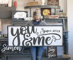 Farmhouse decor and handmade wood signs are on the up and up! Find these amazing farmhouse inspired handmade wood signs on Etsy and add them to your home. Renovation Design, Home Renovation, Easy Home Decor, Handmade Home Decor, Handmade Signs, Diy Signs, Wood Signs, Fence Signs, Rustic Decor