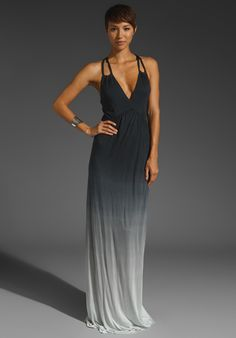YOUNG, FABULOUS & BROKE Cassandra Maxi Dress in Black Ombre at Revolve Clothing - Free Shipping!