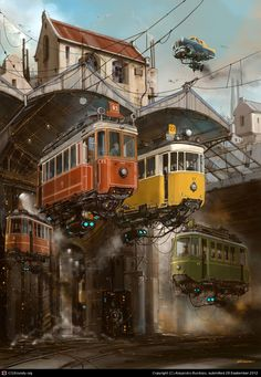 An old fashioned future, by illustrator Alejandro Burdisio. Google Image Result http://features.cgsociety.org/newgallerycrits/g16/63516/63516_1348883724_large.jpg