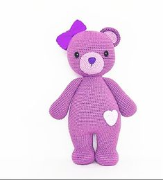 plus Amigurumi Doll Pacifier Baby Free Crochet Pattern - Crochet. Crochet Bear, Crochet Animals, Free Crochet, Amigurumi Patterns, Amigurumi Doll, Crochet Patterns, Diy Gifts For Friends, Christmas Wreaths To Make, Diy Ribbon