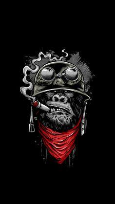 Ape of Duty - Gorilla Warfare Shirt. Funny and totally awesome artwork of a gorilla soldier smoking a cigar. Gorilla Tattoo, Graffiti Art, Arte Dope, Dope Art, Comic Kunst, Comic Art, Dope Kunst, Monkey Art, Gas Monkey