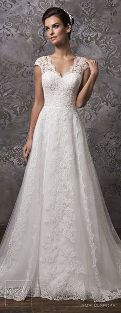 Amelia Sposa Wedding Dress Collection Fall 2018 #bridal #weddingdress #weddingdresses #bridalgown #bridalgowns #weddings #bride