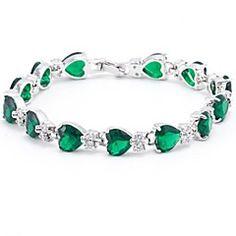 Fashion Set Auger Rounded Zircon Bracelet(Multicolor&Green&B... – EUR € 36.99