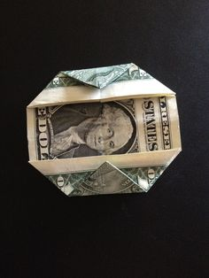 How to fold a $1 dollar bill - B+C Guides Fold Dollar Bill, Dollar Bill Origami, Money Origami, Three Fold, Coin Values, Thing 1, One Dollar, Two By Two, Crafts