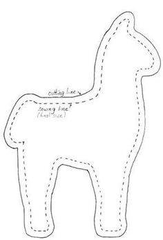 Peru: sew llama out of felt, weave a blanket, button eyesSew, (pun intended) what you will see when you click this link is about how important llamas are in Peru and the pattern as seen above to make a stuffed llama.Alpaca Pattern Use The Printable O Felt Patterns, Pdf Sewing Patterns, Stuffed Toys Patterns, Craft Patterns, Sewing Toys, Sewing Crafts, Sewing Projects, Felt Crafts Diy, Alpacas