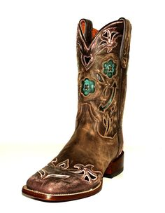 "Twisted X Women's Hooey 11"" Broad Square Toe Western Boots ..."
