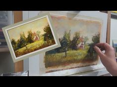 Painting demonstration - Painting an old cottage with soft pastels