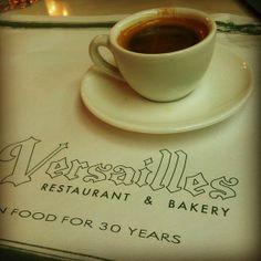My cafecito at the Versailles, Miami