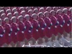 lindo desfile militar chinês com mulheres lindas e