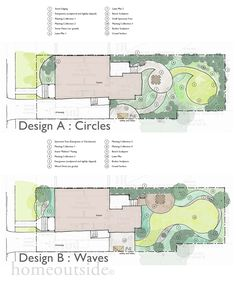 Two designs by Home Outside Design