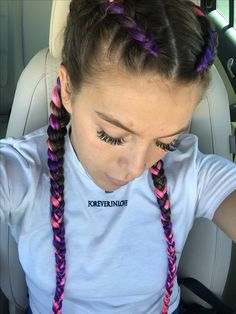 Layered Micro Box Braids - 40 Ideas of Micro Braids, Invisible Braids and Micro Twists - The Trending Hairstyle Boxer Braids Hairstyles, Cute Braided Hairstyles, Diy Hairstyles, Dance Hairstyles, Hairstyles 2018, Rave Hair, Natural Hair Styles, Short Hair Styles, Invisible Braids
