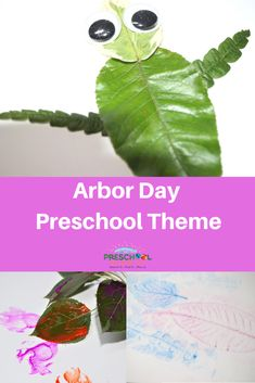 Arbor Day is typically in the last week of April each year. This page is a mini-unit for a one day theme of preschool activities and ideas for different areas of your classroom.