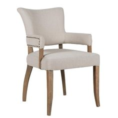 Roxy Dining Chair with arms and stunts details