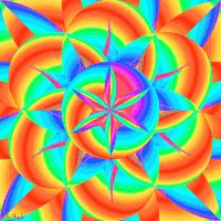 trippy psychedelic colorful flower lsd GIF