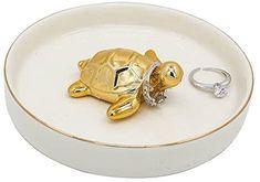 Amazon.com: WANYA Ceramic Ring Jewelry Holder Decor Dish Organizer,Tortoise: Home & Kitchen