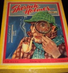 A Swedish board game. Sherlock Holmes, Board Games, Drawings, Tabletop Games, Sketches, Drawing, Portrait, Draw, Grimm
