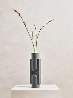 KALA Slender Ceramic Vase in Black design by Light and Ladder Porcelain Black, Porcelain Vase, Ceramic Vase, Ceramic Pottery, Pottery Store, Geometric Form, Burke Decor, Vase Centerpieces, Terrarium