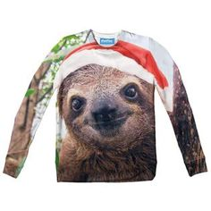 Christmas Sloth Youth Sweater by Shelfies Christmas Sloth, Youth, Sleep, Humor, Prints, Sweaters, Animals, Animales, Humour
