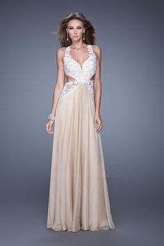 2015 Straps Appliques Open Back Ruched Blue Pink Floor Length Homecoming / Evening / Formal Dresses
