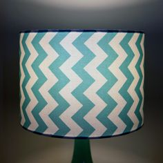 Aqua Chevron Lamp Shades » Pretty Dandy