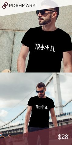 Travel Graphic Vinyl For Travelers T-Shirt All orders are made to order upon purchase New T Shirt Design, Shirt Print Design, Tee Shirt Designs, T Shirt Custom, T Shirt Original, Travel Shirts, Athleisure, Vintage Design, Hypebeast