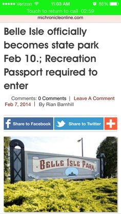 #DetroitNews you can use:  When the transition period ends Feb. 10, the DNR will begin phasing in requirement of the Recreation Passport for vehicles entering Belle Isle. The Passport – $11 for resident vehicles, $5 for resident motorcycles.  To read the entire article head over to our Facebook page Denson #Construction Services and make sure you like our page. #realestate #money #motorcity #michigan #realestate #business #development #developing #detroit