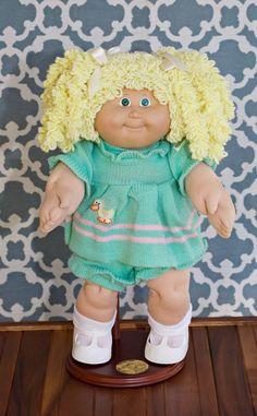 1986 Cabbage Patch Kid Lemon Popcorn Ponytail Girl OK Factory EUC   eBay