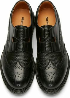 Brogue Wingtip, Black Leather, Men's Fall Winter Fashion.