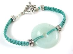 Amazonite Bracelet - would work with a button too
