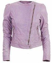 куртка, косуха, женская, фиолетовая, кожаная