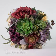 Your place to buy and sell all things handmade Summer Wedding Bouquets, Diy Wedding Bouquet, Bridesmaid Bouquet, Silk Bridal Bouquet, Succulent Bouquet, Artificial Succulents, Silk Flowers, Art Art, Etsy