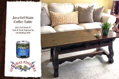 General Finishes Java Gel Stain is the perfect choice to give any wood furniture an instant update.  It requires on a light sanding, no stripping!