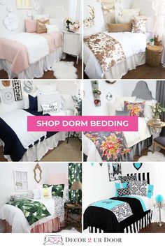 Shop this years hottest dorm room bedding and décor. Choose your favorite twin . Shop this years hottest dorm room bedding and décor. Choose your favorite twin xl bedding set to f Boho Dorm Room, Cute Dorm Rooms, College Dorm Rooms, College Life, Dorm Room Headboards, Dorm Room Bedding, Dorm Bed Skirts, Twin Xl Bedding Sets, Dorm Walls