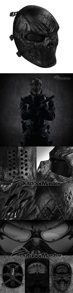 Clothing and Protective Gear 159044: Full Face Mask Comfortable Punisher Airsoft Mask With Metal Mesh Eye Protection -> BUY IT NOW ONLY: $41.01 on eBay!
