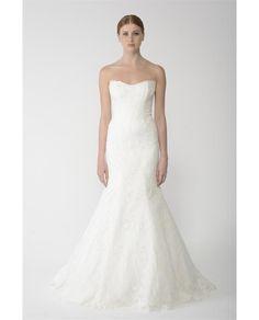 MONIQUE LHUILLIER BLISS Strapless Fishtail Bliss Bridal Gown #newin #brownsbride