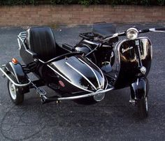 Vespa and sidecar