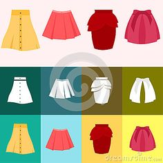 Set of skirt woman with more various color and model