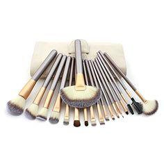 cool Hotrose® 18 pcs Pincel de maquillaje con sombra de ojos Delineador de ojos del cepillo del labio para las mujeres