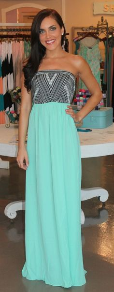 Dottie Couture Boutique - Tribal Maxi-Mint, $42.00 (http://www.dottiecouture.com/tribal-maxi-mint/)