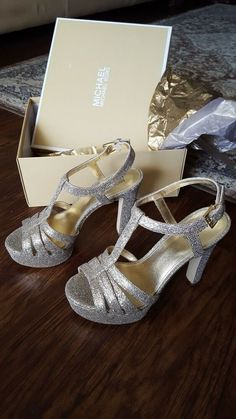 fb24fcca9 Michael Kors - Gold glitter 5 inch heels never worn size 8M #fashion  #clothing