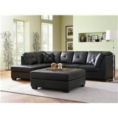 Designed with a lengthy chaise on its right and a three-seat armless sofa on its right, this Black Faux Leather Sectional Sofa with Left Side Chaise offers plen Best Leather Sofa, Coaster Fine Furniture, Sofa Design, Leather Sectional Sofas, Black Leather Sofas, Living Room Leather, Sofa Set, Sectional Chaise, Leather Sofa Set