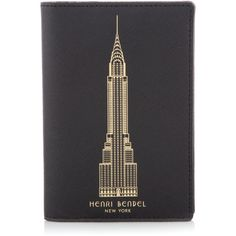 Henri Bendel New York Skyline West 57th Passport Cover ($58) ❤ liked on Polyvore featuring bags and luggage