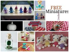 Free mini crochet patterns and tutorials Love Crochet, Diy Crochet, Crochet Crafts, Crochet Projects, Diy Crafts, Crochet Amigurumi, Amigurumi Patterns, Crochet Dolls, Crochet Patterns