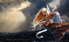 Stunning Digital Illustrations of Women in Water