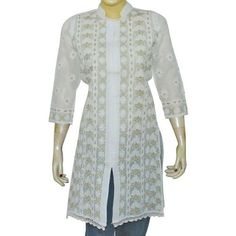 White Summer Dresses for Women Tops Cotton Hand Embroidery Size S ShalinIndia, http://www.amazon.com/dp/B003VXME20/ref=cm_sw_r_pi_dp_0SQfqb000F2E5