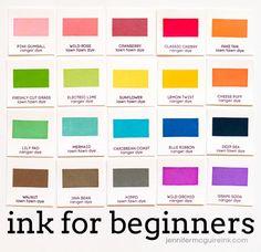 Video: Ink for Beginning Stampers + GIVEAWAY | Jennifer McGuire Ink