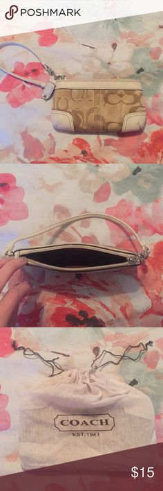 Coach Wristlet Cute wallet large enough to hold my iPhone 6! Coach Bags Clutches & Wristlets