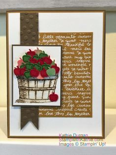Stampin' Up! Basket of Wishes - SU - Tree Builder Punch